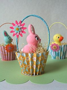 Easter cupcake baskets