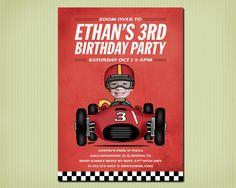 digital race car birthday invite by jjelliot on Etsy, $18.00