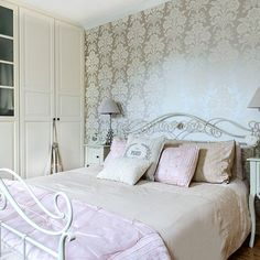 Cream and pink bedroom | Bedroom decorating | Style at Home | Housetohome.co.uk
