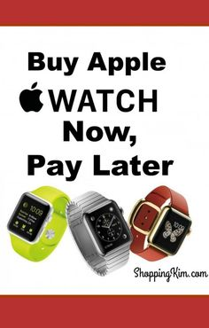 Short on funds, but want the latest Apple watch on your wrist? Buy an Apple Watch Now, and make monthly payments. Click for details.