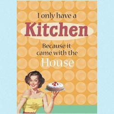 Bilde av Kjøkkenhåndkle humor I only