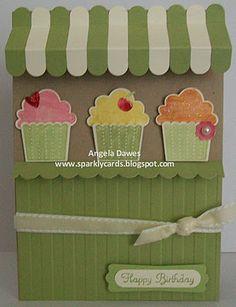 Stampin Up! Create a cupcake.