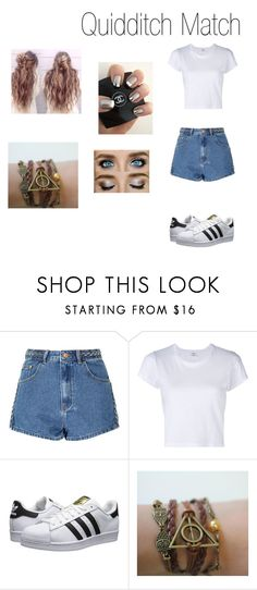 """""""Sin título #86"""" by evelyn-mendoza-1 on Polyvore featuring moda, Glamorous, RE/DONE y adidas Originals"""