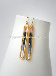 Fashionable Natural gemstone jewelry Sapphire Women Earrings
