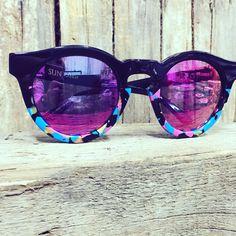 G-Sevenstars Sun Candy with Pink Mirror Lenses. Italian handmade sunglasses with Mazzucchelli acetate