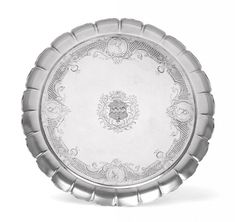A George II Britannia Standard Silver Salver, mark of Paul Crespin, probably overstriking another, London 1730 Spring Fine Art Sale March 2019 Estimate: - Antique Interior, Sell Items, Trellis, Art For Sale, Fields, London, Ash, Centre, Silver