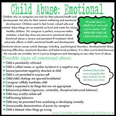 Emotional child abuse...often the act of a narcissistic father or mother.