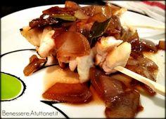Spiedini di pollo in salsa di cipolle agrodolce: http://benessere.atuttonet.it/alimentazione/ricette-light/spiedini-di-pollo-in-salsa-di-cipolle-agrodolce.php