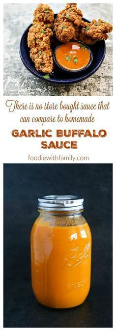 Garlic Buffalo Sauce - because homemade is infinitely better than store bought! : foodiewithfamily