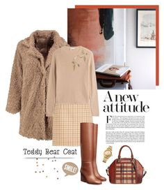 """Snuggle Up: Teddy Bear Coats"" by frechelibelle ❤ liked on Polyvore featuring Boohoo, Michael Kors, RED Valentino, Brahmin and Tommy Hilfiger"