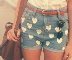 perfect for summer ;p <3 #jeans #shorts #hearts #summer #ootd #fashion #fashonista