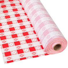 Our Red Gingham Plastic Table Roll is ideal for covering tables at any western theme party or barbecue.