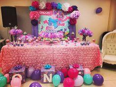 Vinyl Backdrop by Caryn Allen Creations Waits Abby Cadabby Party Baby Birthday, Birthday Ideas, Sesame Street Birthday Cakes, Pretty Pregnant, Abby Cadabby, Vinyl Backdrops, Aiko, First Birthdays, Party Supplies