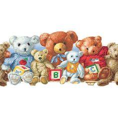 Room to Grow Teddy Bear Wallpaper Border BS5327BD Baby's