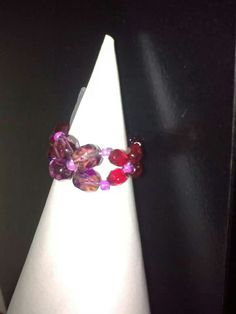 Paars-rood ring