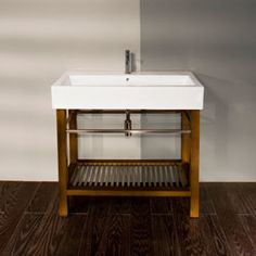 Bathroom Vanity No Faucet Holes lacava stone #st003 vanity - option to have no faucet holes, wood