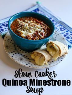 Slow Cooker Quinoa Minestrone Soup | Happily Hughes @Walmart #Pickedatpeak #ad