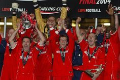 Gareth Southgate lifts the League Cup for Middlesbrough FC. #Teesside #NorthEast #Boro