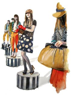 @kate spade new york illustration by @PAPERFASHION