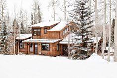 Luxury Cabin Homes Rustic log cabin features cozy living in mountain village of Telluride The Histor Cabin Design, House Design, Garden Design, Magnolia Home Decor, Log Home Interiors, Rustic Exterior, European Home Decor, Rustic Outdoor, Farmhouse Homes