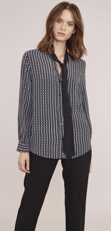 Atterley Road Black Pussy Bow Blouse