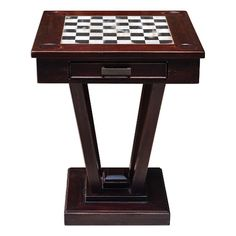 Uttermost Accent Furniture Fineas Wood Game Table - del sol furniture
