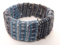 Upcycled+Denim+Bangle+Bracelet+by+UPCYCLEDDREAMS+on+Etsy,+$3.00
