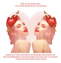 This Valentines.Let Your Heart Rule Your Head Hearts Rules, Your Head, Valentines, Let It Be, Beauty, Beleza, Valentines Day, Valentine's Day, Valentine Craft
