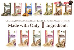 PureBites Dog and Cat Treats. Made with only 1 ingredient.