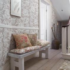Damask print hallway | Country hallway | housetohome.co.uk