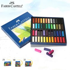 14.63$  Buy now - http://ali85z.shopchina.info/go.php?t=32407195070 - Faber Castell Oil Pastels Set 24/48/72 Colors Professional  Artistic Creation Art Supplies Crayon And Oil Pastel 14.63$ #buyonline