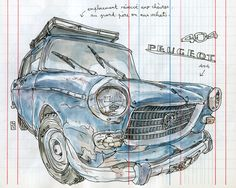 """first stop in """"peugeot ville"""" by lapin barcelona, via Flickr"""
