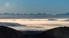 Blick vom Hochblauen in Richtung Luzern/Vierwaldstättersee mit der Rigi