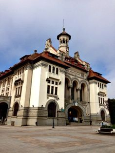 The cruise port in Constanta, Romania, offers a peek into this war-torn country with exceptional seaside charm and beauty. Constanta Romania, Bucharest Romania, Beautiful Castles, Beautiful Buildings, Revival Architecture, Cruise Port, Commercial Architecture, Travel Goals, Travel Guides