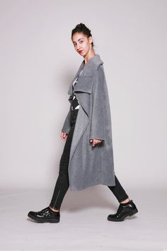 Cape coat. Fleece red burgundy long cape coat.Winter cape .Women's