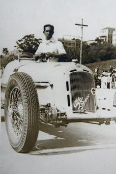 Rio de Janeiro 1937 , Alfa Romeo Monza 8C 2300 of Benedicto Lopes. (Ex Helle Nice car) , reputedly Helle sent parts from Europe to Benedicto wich restored the car..