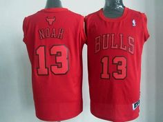 Bulls  13 Joakim Noah Red Big Color Fashion Stitched NBA Jersey Cheap Nba  Jerseys a3c185635