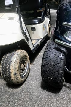 Want to customize your golf cart? Let's start with the tires :) #customgolfcartaccessories #customizeyourgolfcart #customgolfcartproducts Custom Golf Cart Bodies, Custom Golf Carts, Golf Cart Tires, Custom Body Kits, Tire Tread, Fender Flares, Monster Trucks, Vehicles, Accessories