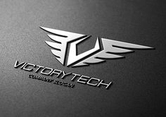 Victory Tech Templates Logo Description:The logo is Easy to edit to your own company name.The logo is designed in vector f by Super Pig Shop Web Design Logo, Branding Design, App Design, Victory Logo, Find Logo, Bussiness Card, New Background Images, No Photoshop, Business Card Logo