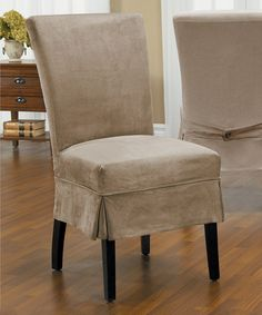 Caber SureFit Driftwood New Luxury Suede Parson Mid Pleat Chair Cover