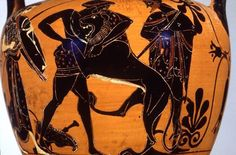 Hercules wrestling the Nemean lion Mississippi 1977.3.62, Attic black figure neck amphora, ca. 510-500 B.C. Photograph by Maria Daniels, courtesy of the University Museums, University of Mississippi