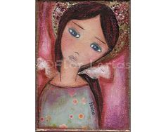 Angel of Peace Reproduction from Painting by FLOR by FlorLarios, $15.00
