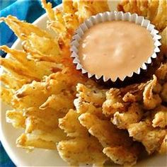 Blooming Onion Allrecipes.com (I always wanted to try the Onion Blossom at Chili's, and I do like onion rings. The ingredients look good, except neither the ingredients nor the directions tell you what kind of onion to use.)