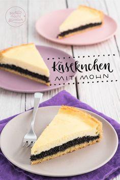 Käse-Mohn-Kuchen ist knusprig, cremig, aromatisch: Dieses doppelt gefüllte Mohn-Käsekuchen-Rezept begeistert Mohn-Fans genauso wie Käsekuchen-Liebhaber!
