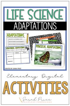 Disorganized and stressed out? Don't spend time planning your elementary science curriculum when you can easily teach your students about habitats and adaptations with these fun digital activities. Science Curriculum, Science Resources, Interactive Activities, Science Activities, Life Science, Vocabulary Sentences, Vocabulary Cards, Physical Adaptations, Fact Slides