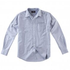A 100% cotton heavy weight oxford long sleeve shirt for men.
