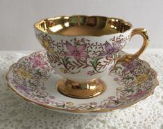 Shelley Dainty rosa taza de té y plato taza por NicerThanNewVintage