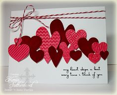 Fun embossing on the hearts and the others out of velvet.