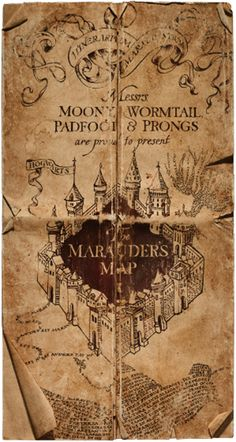 The Marauder's Map iPhone 5 wallpaper