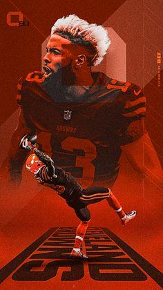 Nfl Football Players, Football Art, Odel Beckham, Odell Beckham Jr Wallpapers, Odell Beckam Jr, Cleveland Browns History, Go Browns, Nfl Photos, Browns Football